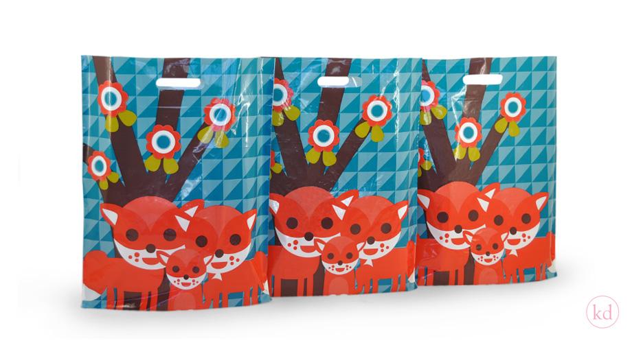 Plastic Tassen Ontwerpen : Plastic bags jojojanneke family fox cm